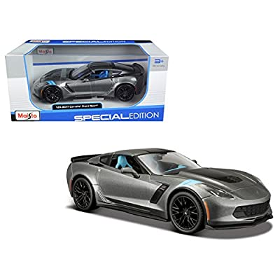 Maisto 2020 Chevrolet Corvette Grand Sport Metallic Grey 1/24 Model Car: Toys & Games