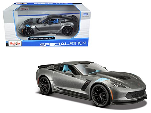 Maisto 2017 Chevrolet Corvette Grand Sport Metallic Grey 1/24 Model Car