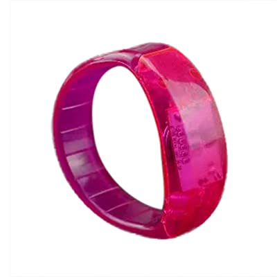 Coohole New Party Rave Concert Voice Control LED Light Bracelet Bangle Sound Activated Glows