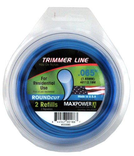 Maxpower 333065 Residential Grade Round .065-Inch Trimmer Line 40-Foot Length ()