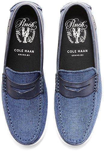 Cole Haan Mens Nypa Weeke Slip-on Loafer Marinen Slubby Canvas