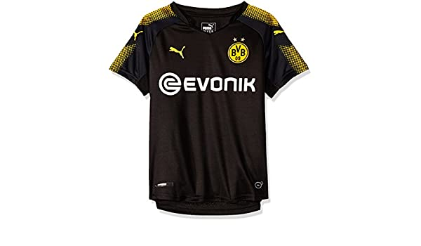 Amazon.com : PUMA 2017-2018 Borussia Dortmund Away Football Soccer T-Shirt Jersey (Kids) : Sports & Outdoors