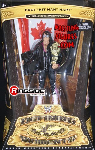 BRET HART - WWE DEFINING MOMENTS 5 WWE TOY WRESTLING ACTION FIGURE [Holiday Gifts]