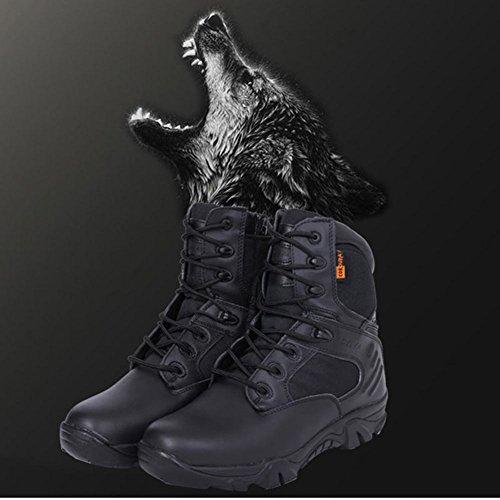 Impermeabile Gli Escursionismo Comp Army Cerniera Combat Stivali Black44 Caviglia Laterale Per Tattico Militare Black45 Uomini Pelle Lavoro Alla Elegantstunning BwqSYS