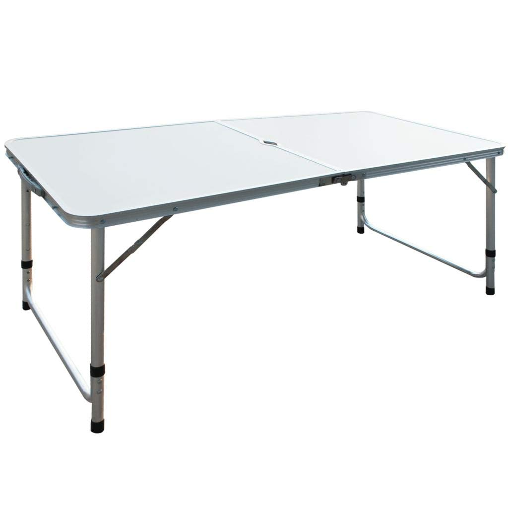 4' Folding Table Portable Adjustable Folding Camping Table Indoor Outdoor Picnic Party Dining Camp Tables