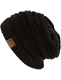 Trendy Warm Chunky Soft Stretch Cable Knit Beanie Skully 2818e179169