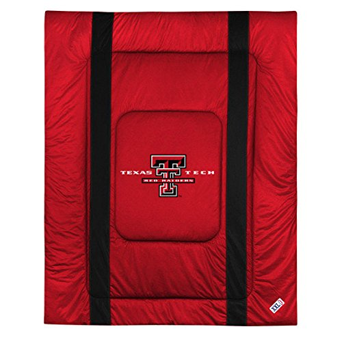 NCAA Texas Tech Red Raiders King Bed Comforter Sidelines College Team Logo Bedding