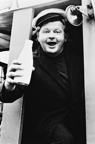 Benny Hill 24x36 Poster as Ernie Fastest Milkman in the West! in Milk Cart (Benny Hill Fastest Milk Cart In The West)