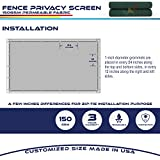 Windscreen4less Heavy Duty Privacy Screen Fence in