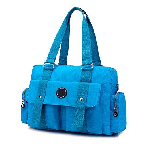 Frauen Jahrgang Leinwand Schulter Aktentasche Messenger Handtasche Seite Geschäft Tasche ,G-OneSize