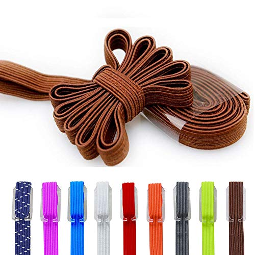 DB Elastic No Tie Shoe Laces, Replacement Shoelaces, Flat Elastic Shoe Laces for Running, Athletic, Mens, Womens, Kids