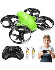 Potensic Mini drone compatibel met kinderen en beginners, RC Quadrocopter met hoogtehoudmodus, start/landing met één druk op de knop, koploze modus, speelgoed drone helikopter- drone zonder camera