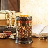 Mosaic Wax Warmer, Gatsby Bronze Glass, Metal