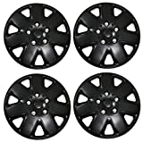 Tuningpros WC3-15-1026-B - Pack of 4 Hubcaps - 15-Inches Style 1026 Snap-On (Pop-On) Type Matte Black Wheel Covers Hub-caps