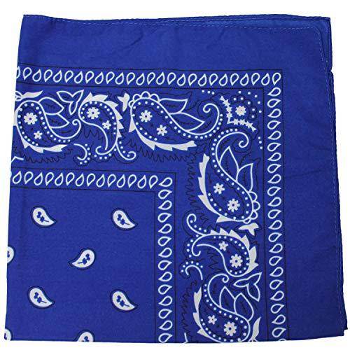 3 Pack Mechaly Dog Bandana Neck Scarf Paisley 100% Polyester Double Sided Bandanas - Any Pets (Royal Blue)