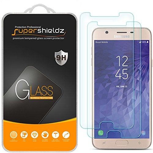 [2-Pack] Supershieldz for Samsung (Galaxy J7 Refine) Tempered Glass Screen Protector, Anti-Scratch, Bubble Free, Lifetime Replacement Warranty