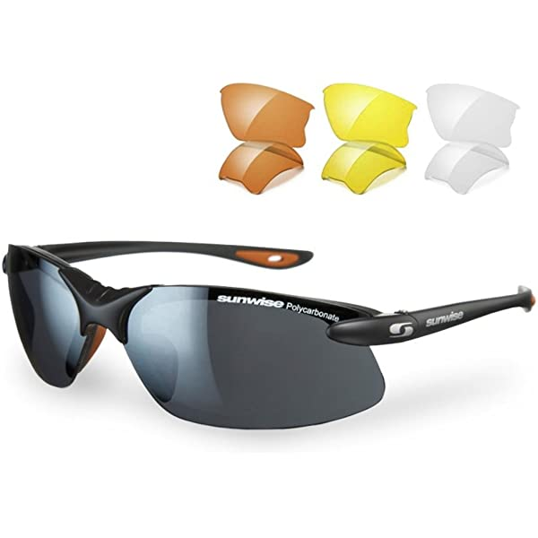 White Sports Running Water Sunwise Unisex Pacific Interchangeable Sunglasses