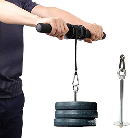 Kabalo Adjustable Forearm Arm Machine Grip Hand Strength Trainer Padded Wrist Workout Exerciser for Home Gym