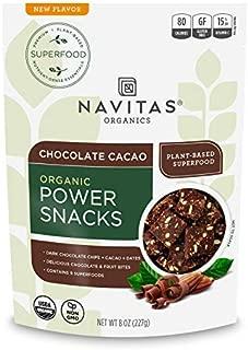 product image for Navitas Organics Superfood Power Snacks, Chocolate Cacao, 8 oz. Bag, 11 Servings — Organic, Non-GMO, Gluten-Free