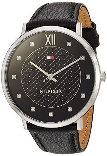 Tommy Hilfiger Women's Sophisticated Sport Quartz Watch with Leather Strap, Black, 20 (Model: 1781808