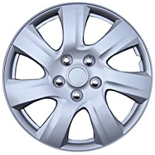 "Kuan Tong 1021 Silver 17"" ABS Plastic Aftermarket Wheel Cover"