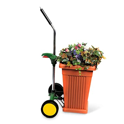Garden Pot Mover with Adjustable Handle - Heavy Duty Plant Dolly Caddy with Sturdy Flat-Free Wheels and Gripping Suction Cups, Max 165 Lbs Weight Capacity: Home Improvement