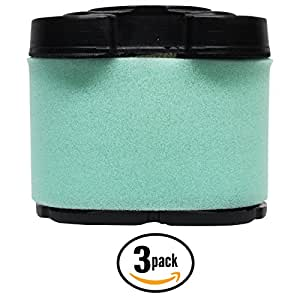 3-Pack Replacement Briggs & Stratton 40G777-0124-G1 Engine Air Filter Cartridge - Compatible Briggs & Stratton 792105 Filter