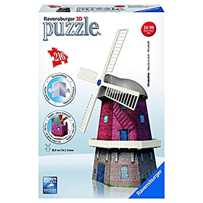 Ravensburger 12563 - Puzzle 3D Building - 216 Pièces - Moulin À Vents