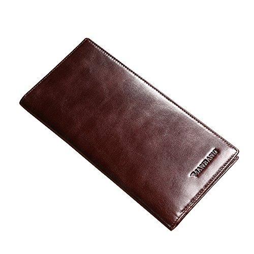 - Genuine Italian Leather Handbag Organizer Card Case Long Bifold Wallet
