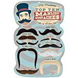 Mr. Moustachio's Top 10 Manliest Mustaches of All Time Assortment,Black,One-Size