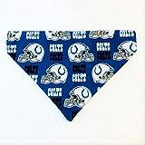Indianapolis Colts Dog Bandana No-Tie Design