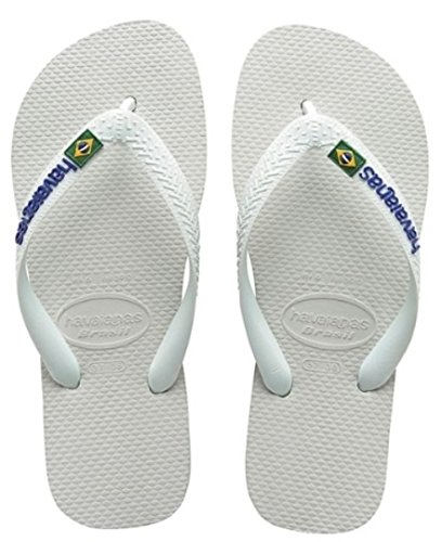 38 Adultos Unisex Logo 40 Blanco Chanclas Havaianas 39 EU Brasil BR 37 xqInSBTv
