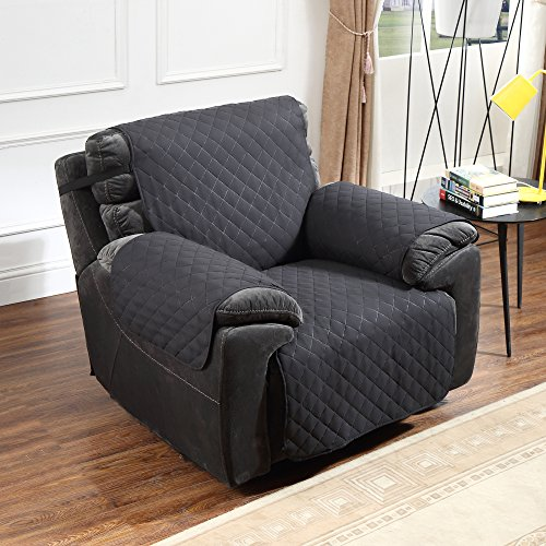 Amazon.com: Argstar Recliner Covers Profession Pet Protector Reversible  Black/Gray By: Home U0026 Kitchen