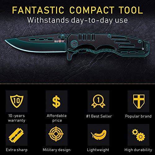 Spring Assisted Knife - Pocket Folding Knife - Military