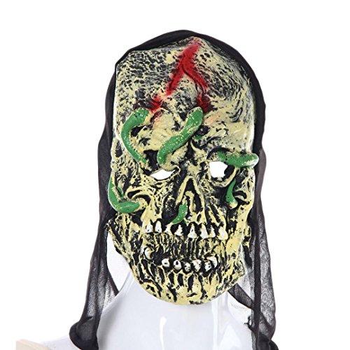 AMA(TM) Halloween Party Cosplay Mask Pumpkin Scarecrow Terror Mask Head Mask (B)