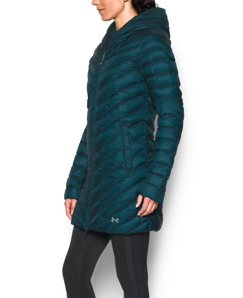 Under Armour Women's Storm ColdGear Infrared Uptown Parka, Nova Teal/Aqua Falls, Small by Under Armour (Image #2)