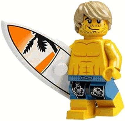 LEGO City Beach Ocean Yellow Minifigure Surfboard Accessory