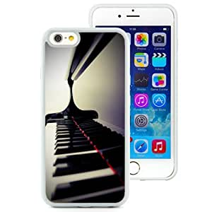 Fashionable Custom Designed iPhone 6 4.7 Inch TPU Phone Case With Piano Keys Closeup_White Phone Case