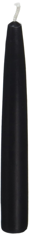 Zest Candle 12-Piece Taper Candles, 6-Inch, Black CEZ-020