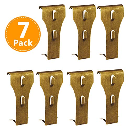 Brick Clips for Hanging, Outdoor Metal Hooks Hanger, Wall Pictures Wreath Lights Fastener Fits Brick 2 1/4 inch to 2 1/2 inch in Height 7 Pack ()