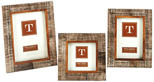 Two's Company Chiseled Horn Photo Frames, Set of 3