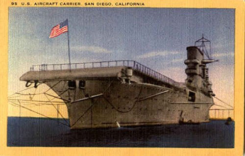 U. S. Aircraft Carrier San Diego, California Original Vintage Postcard