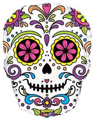 Halloween Sugar Skull 27 Inch Mylar Foil Balloon by Oaktree UK]()
