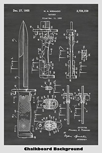Used, M5 Bayonet For M1 Garand Rifle Poster Patent Print for sale  Delivered anywhere in USA