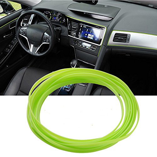 ATMOMO 5M Flexible Trim for DIY Automobile Car Interior Exterior Moulding Trim Decorative Line Strip (Fluorescent Green)