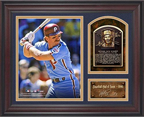 Mike Schmidt Philadelphia Phillies Framed Hall of Fame Milestones & Memories Photograph with Facsimile Signature
