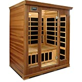 Crystal Sauna LC300 3-Person Luxury Infrared Sauna in Red Cedar For Sale