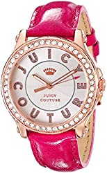 Juicy Couture Women's 1901204 Pedigree Gold-Tone Watch with Pink Leather Strap