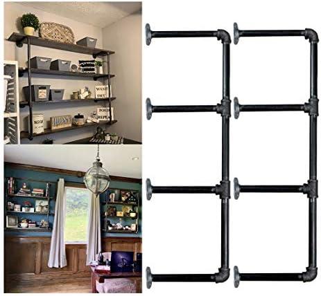 Cheap Industrial Retro Wall Mount iron Pipe Shelf,DIY Open Bookshelf,Hung Bracket modern bookcase for sale