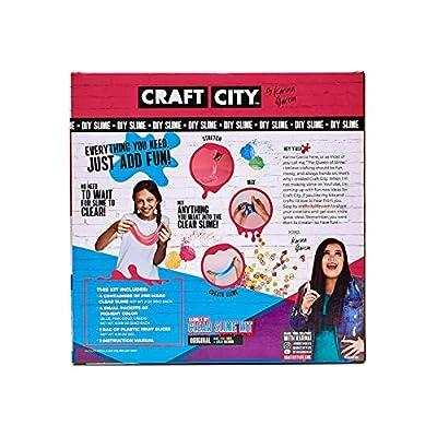 Craft City Karina Garcia DIY Clear Slime Kit | 4 Pack | Pre Made Slime | Ages 8+: Toys & Games
